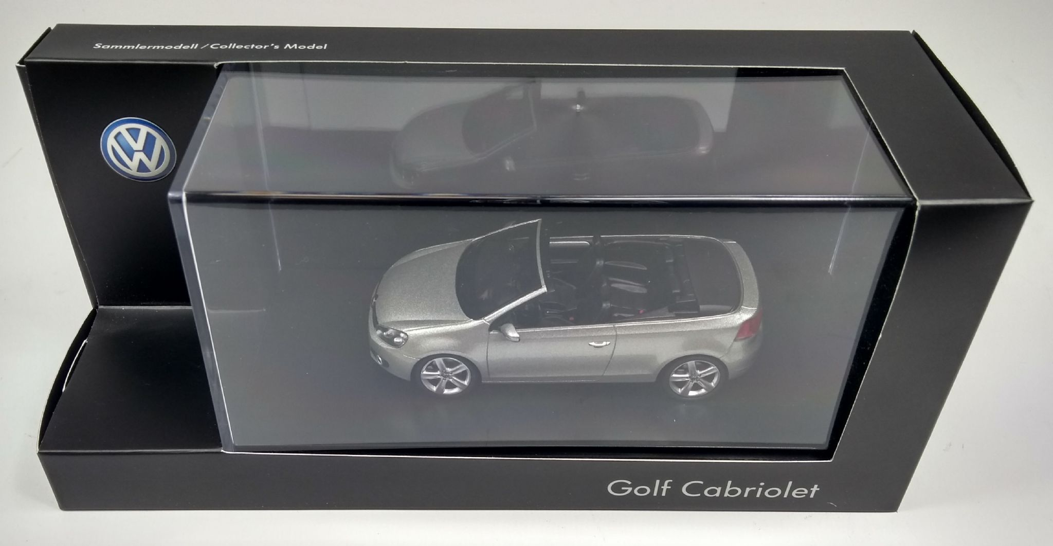 GENUINE VW GOLF MK6 CABRIOLET TUNGSTEN SILVER 143 SCALE DIECAST MODEL CAR